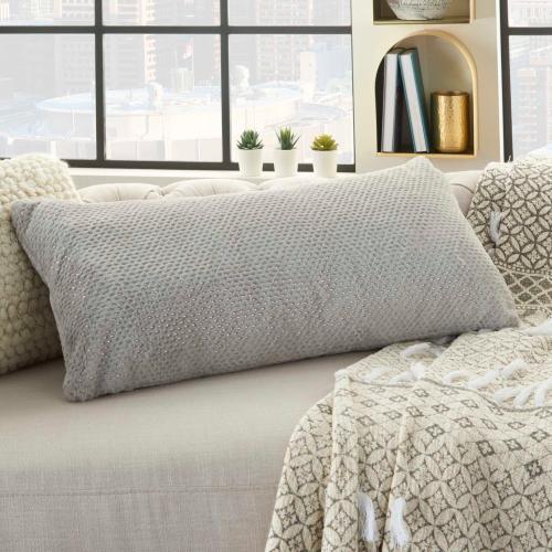 """Fur Vv021 Lt Grey 1'2"""" X 2'6"""" Throw Pillow"""