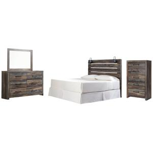 Ashley - King Panel Headboard With Mirrored Dresser and Chest