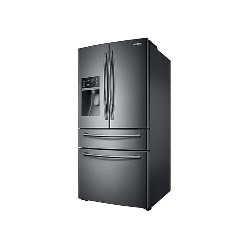 28 cu. ft. 4-Door French Door Refrigerator in Black Stainless Steel
