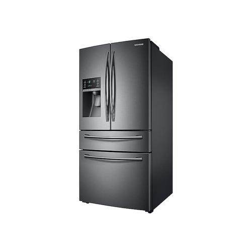 Samsung - 28 cu. ft. 4-Door French Door Refrigerator in Black Stainless Steel