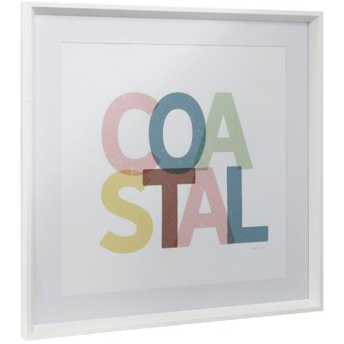 Style Craft - COASTAL  25in w X 25in ht  Framed Print Under Glass with Matte