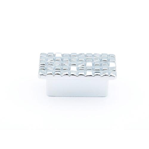 "Mosaic, Rectangular Knob, 1-7/8"" diameter, Polished Chrome finish"