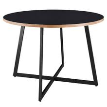"Courtdale KD 42"" Round Table, Black"