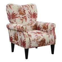Lydia Accent Chair, Crimson Floral U3600-05-52