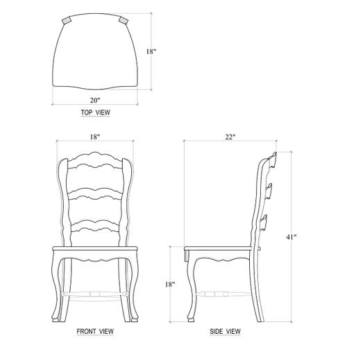 Gallery - Provincial Dining Chair w/ Wood Seat