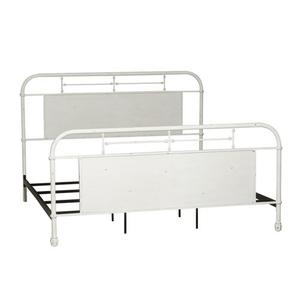 Liberty Furniture Industries - King Metal Bed - Antique White