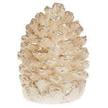 Wax Glitter Pine Cones (2 pc. set)