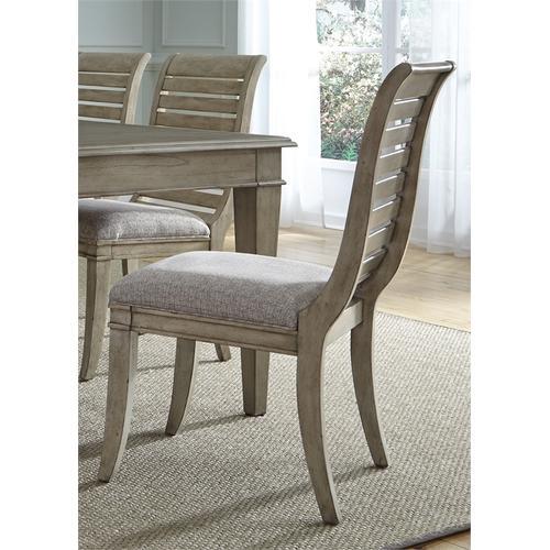 Slat Back Uph Side Chair (RTA)