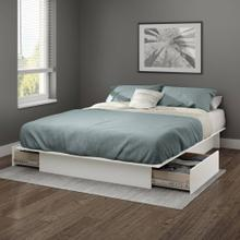 Platform Bed with Drawers - Pure White