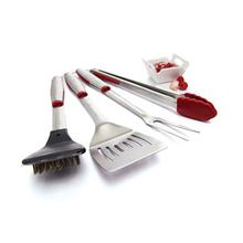 4-Piece Stainless Steel Tool Set With Accents