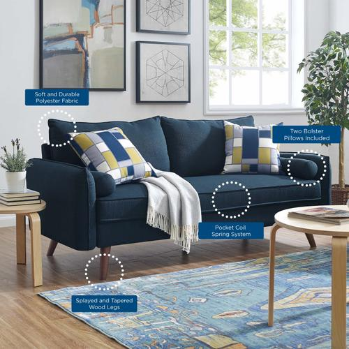 Modway - Revive Upholstered Fabric Sofa in Azure