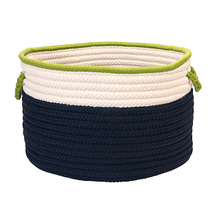 """In The Band Basket BN51 Navy & Bright Green 14"""" X 10"""""""