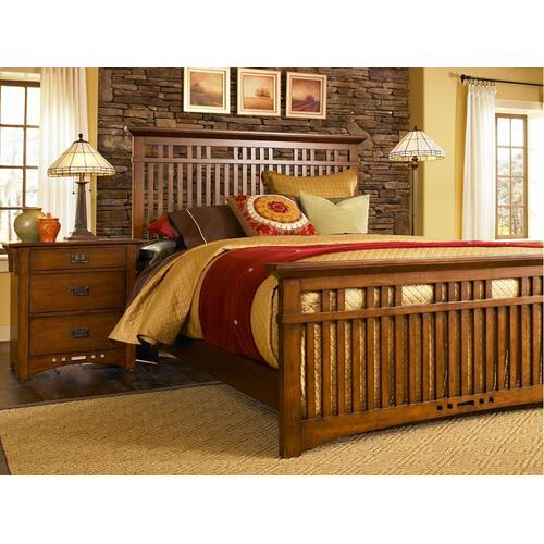Artisan Ridge Slat Bed, Queen