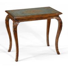 Walnut & eglomise cabriole side table