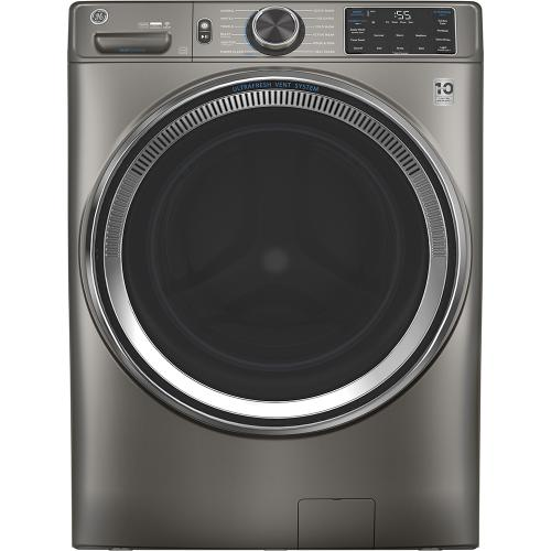 GE® 5.5 cu. ft. (IEC) Capacity Washer with Built-In Wifi Satin Nickel - GFW650SPNSN