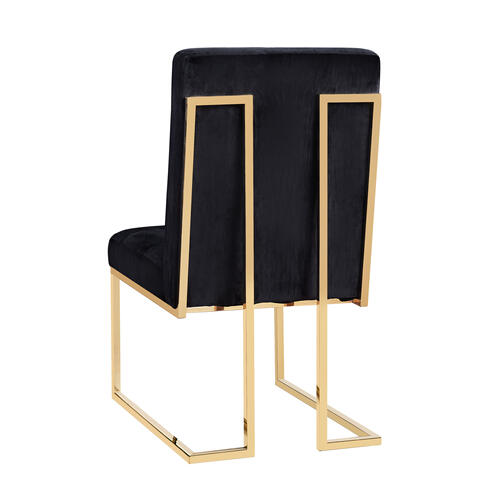 Tov Furniture - Akiko Black Velvet Chair (Set of 2)