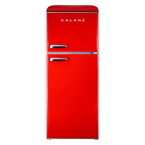 Galanz 4.6 Cu Ft Retro Top Mount Refrigerator in Hot Rod Red