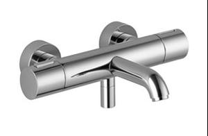 Tub thermostat for wall-mounted installation without hand shower set - chrome Product Image