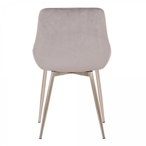 Armen Living - Heidi Grey Velvet Dining Accent Chair