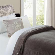 Grey Velvet Duvet Cover - Super King