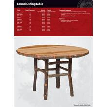 Round Hickory Dining Table