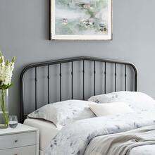 Lennon Queen Metal Headboard in Black