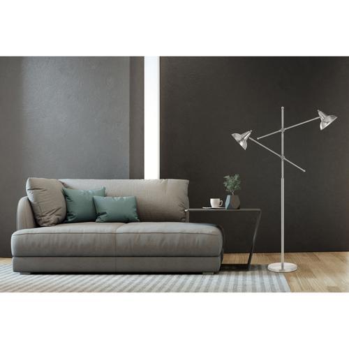 60W X 2 Canterbury Metal Adjustable Floor Lamp