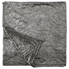 Celeste Silver Velvet U0026 Wave Embroidered Bed Runner