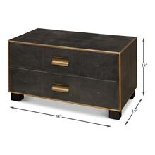 See Details - Midnight Shagreen Low Chest