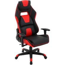View Product - Hanover Commando Ergonomic Gaming Chair in Black and Red with Adjustable Gas Lift Seating and Lumbar Support, HGC0108
