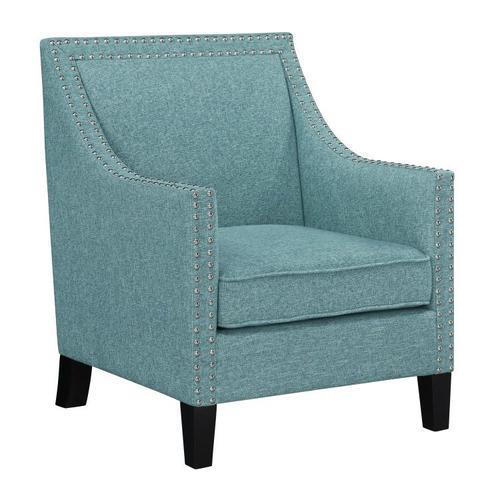 Hailey Accent Chair, Aqua