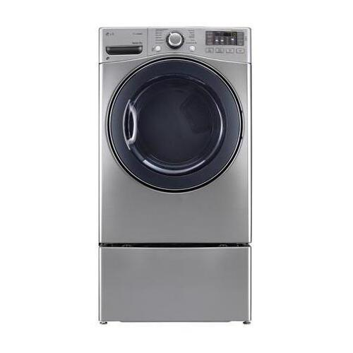 LG - 7.4 cu. ft. Ultra Large Capacity SteamDryer w/ NFC Tag On