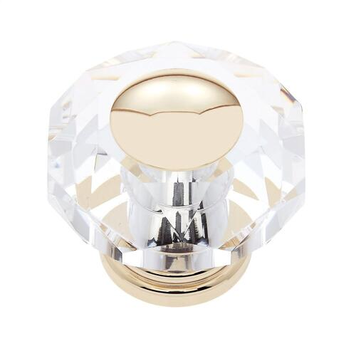24k Gold 50 mm 8-Sided Crystal Knob