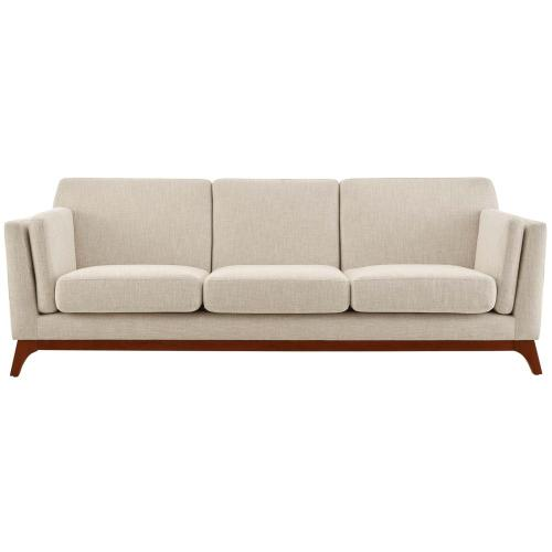 Chance Upholstered Fabric Sofa in Beige