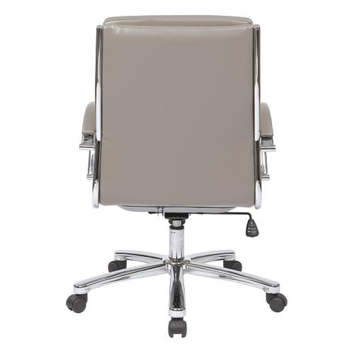 Mid Back Executive Smoke Faux Leather Chair