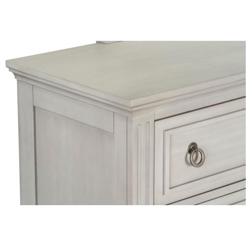 Sarah Youth Dresser with Mirror, White