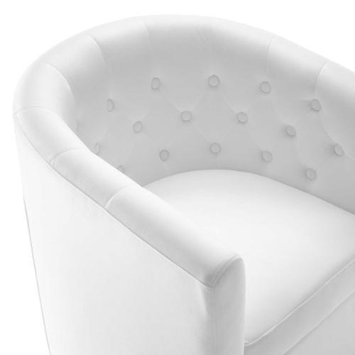 Modway - Prospect Tufted Performance Velvet Swivel Armchair in White