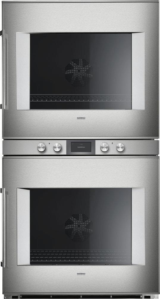 400 Series Double Oven 30'' Door Hinge: Right, Door Hinge: Right, Stainless Steel Behind Glass Photo #2