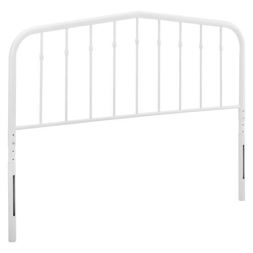 Lennon King Metal Headboard in White