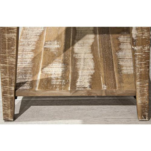 Rowan - Chairside Table - Rough-hewn Gray Finish