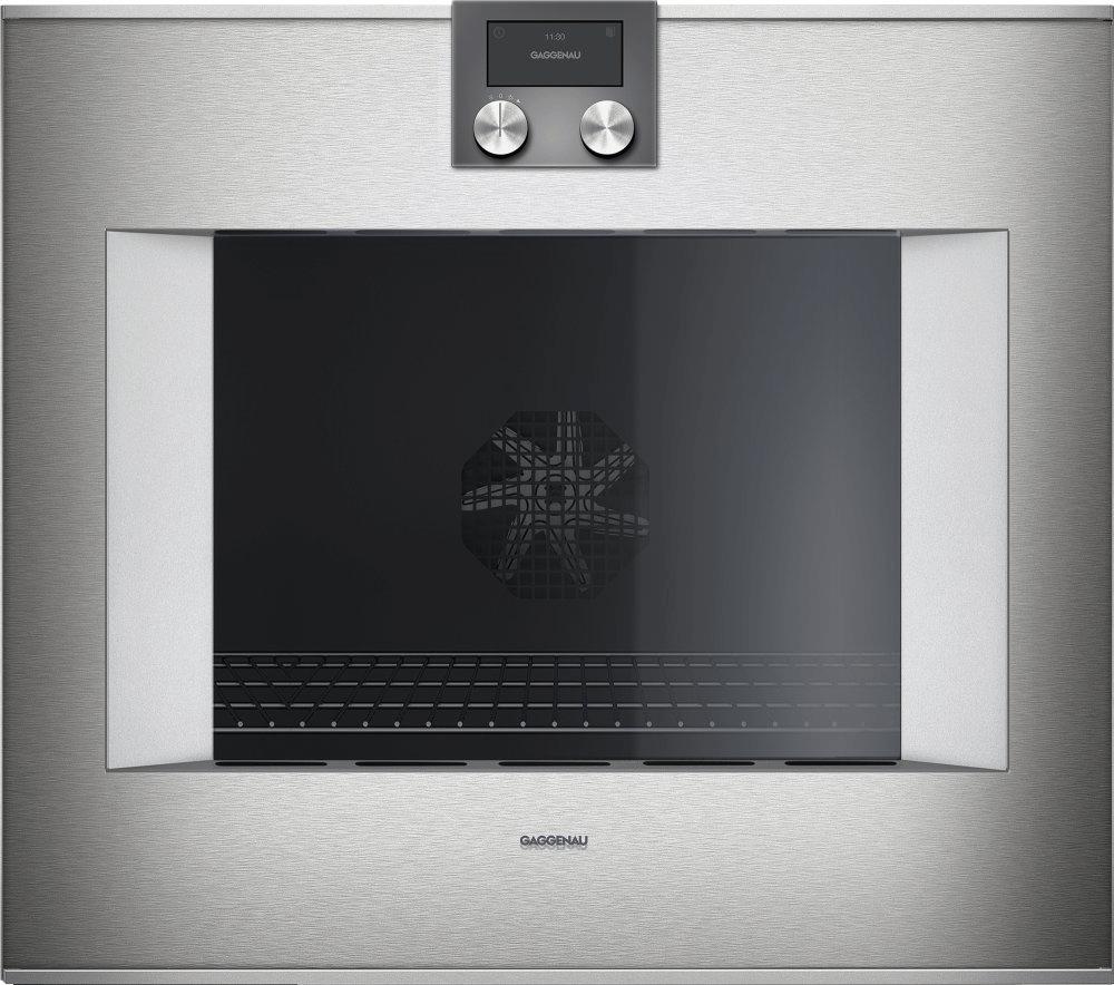 400 Series Oven 30'' Door Hinge: Left, Door Hinge: Left, Stainless Steel Behind Glass Photo #2