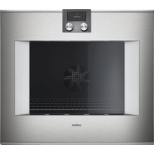 "400 series 400 series oven Stainless steel-backed full glass door Width 30"" (76 cm) left-hinged Controls on top"