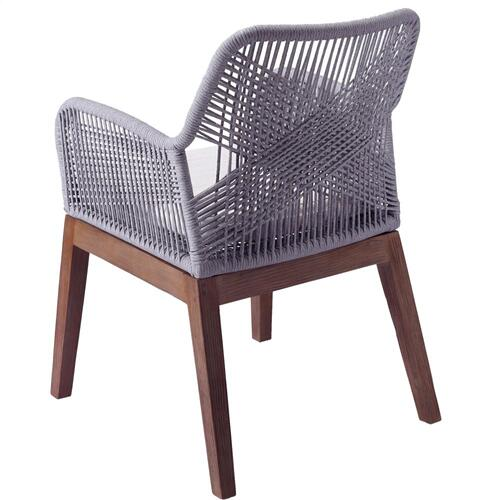 Matisse Rope Arm Chair, Gray