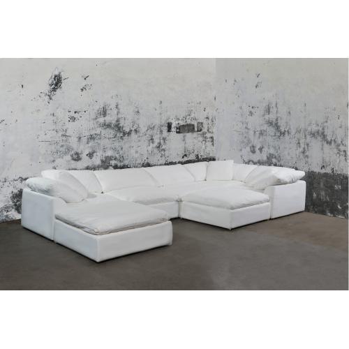 Cloud Puff Slipcovered Modular Sectional Sofa - 391081 (7 Piece)