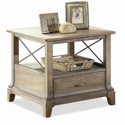 Riverside - Side Table - Shenandoah Barnwood Finish