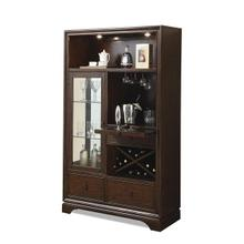 Bella Vista China Cabinet Warm Transitional Cherry finish