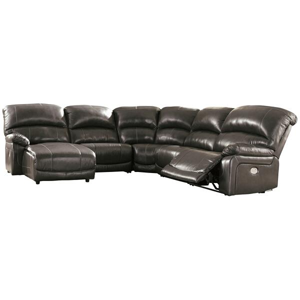 See Details - Hallstrung 5-piece Power Reclining Sectional With Chaise