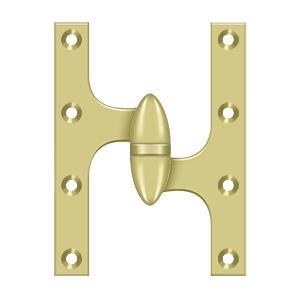 "Deltana - 6"" x 4-1/2"" Hinge - Polished Brass"