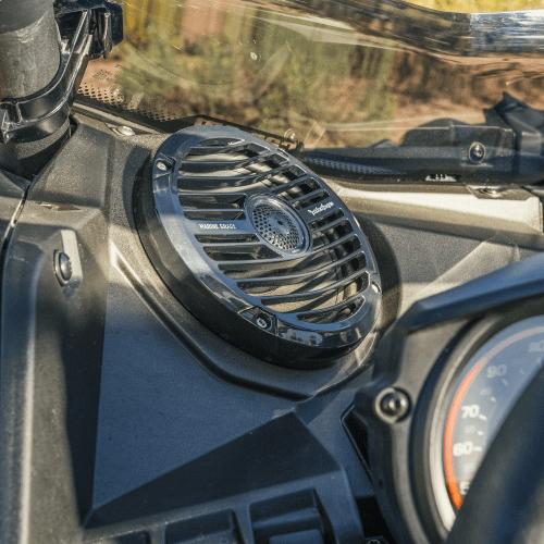 Rockford Fosgate - 400 watt stereo, front speaker, and subwoofer kit for 2017+ Maverick X3 models