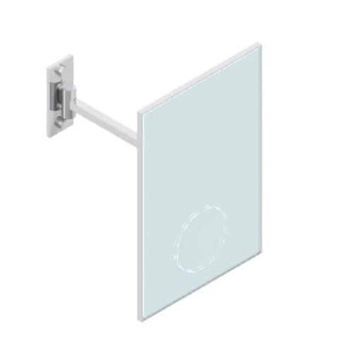 Wall Mirror 200x300 Mm Tilting To 45° With Single Arm - Magnification : X 3